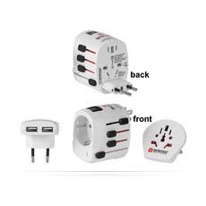 PETRAVEL12, Interno, Universale, USB, Contatto, Bianco, 100 - 250