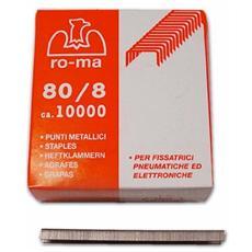 Punti 8 Mm Per Fissatrice Pneumatica Mk80 Mek80 E Rapid Ps12-80 10000 Pz