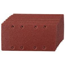 282540 Fogli Abrasivi Forati 1/3 A Fissaggio Strappo, 10 P. zi Grana 60