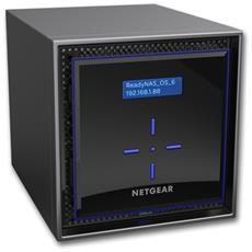 "ReadyNAS 424 8 TB 4 Slot Hot Swap 3.5"" / 2.5"" 2x Gigabit Ethernet (RJ-45) / 2x USB 3.0 / 1x eSata 2 GB Ram"