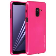 Cover Galaxy A8 Cover Soft Touch Metallizzata Ijelly Goospery - Fucsia