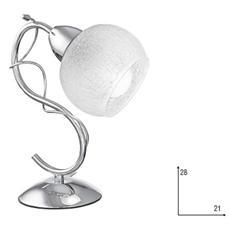 I-OPERA / L1 CR - Lampada semplice cromata con vetro satinato 40 watt E14
