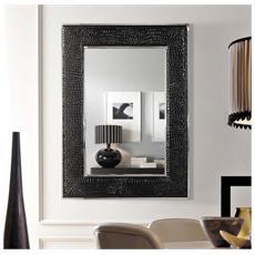 Specchiera bordata nera - specchio grande rettangolare da parete