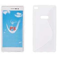 Cover S-Line in silicone Trasparente per Huawei P8