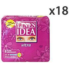 Set 18 Idea Ultra Ali Flussi Abbondanti X 8 Pezzi Cura Del Corpo