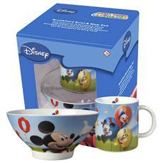 Set Scodelle Mug Disney Mickey Prima Colazione