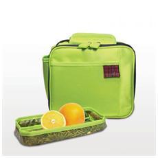 Borsa termica Back to School elegante e comoda per il pranzo verde