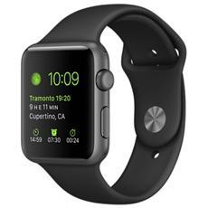 APPLE - Watch Sport Cassa da 42 mm in Alluminio Colore Grigio e Cinturino Sport Nero con Bluetooth e Wi-Fi -...