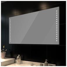Specchio Da Bagno 100 X 60 Cm (L H) Con Luci Led