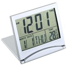Sveglia 033 Da Tavolo Portatile Richiedibile Digitale Allarme Lcd Con Temperatura Data Ora Calendario Countdown