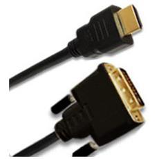 HDMI / DVI-D, plug 19p / plug 18+1 2m HDMI DVI-D Nero