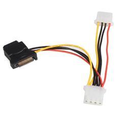 Adattatore per cavo di alimentazione da SATA a LP4 con 2 LP4 aggiuntivi