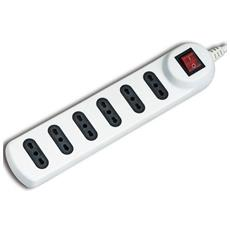 Multipresa Ciabatta Elettrica 6 Posti Con Cavo Da 1,5m - 6 Attacchi Bipasso