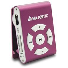 Micro Lettore MP3 con Micro SD da 8GB USB 2.0 Colore Rosso