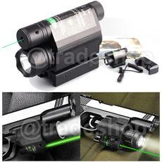 Torcia Led Cree Mirino Puntatore Laser Slitta Canna Fucile Pulsante Remoto