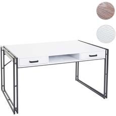 Scrivania Ufficio Computer Hwc-a27 Mdf Con Cassetti 70x120x70cm Bianco