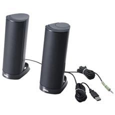 Sistema di Altoparlanti per PC Connessione USB Nera 1.2 W 520-AAFU