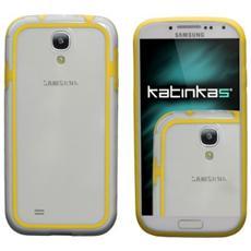 Bumper Cover f / Samsung Galaxy S4 Custodia con bordo Trasparente, Giallo