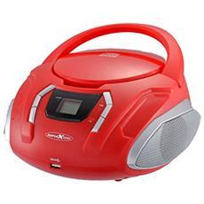 CDR2250U Digitale 32W Rosso radio CD