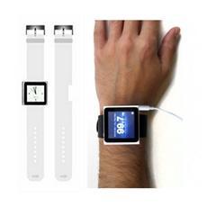 I-POD-WRISTW - Cinturino per iPod Nano in Silicone Bianco