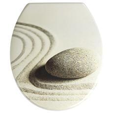 Sedile Per Wc In Duroplast, Cerniere Acciaio Inox Anti-Ruggine, Antigraffio Sand&Stone