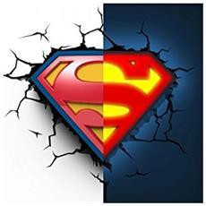 Lampada da Muro 3D - Superman Logo