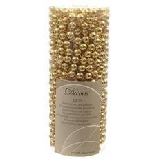 Ghirlanda Perle in Plastica 8 mm x 10 m Colore Oro