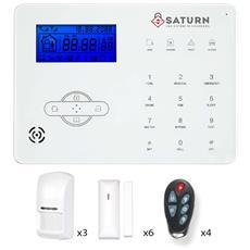 Allarme Wireless Senza Fili Supervisionato 868 Mhz Saturn1