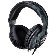 Echelon Navy Cuffie con Microfono per Giochi e PC Connessione Cavo 1.2 m - Nero
