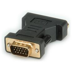 DVI-VGA Adapter VGA DVI-I Nero cavo di interfaccia e adattatore