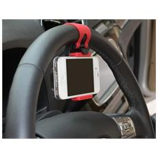 Supporto Telefono Cellulare Smartphone Universale Da Auto Aggancio Al Volante
