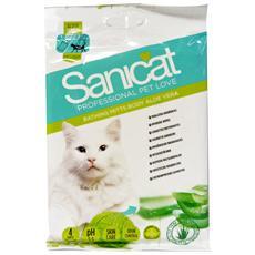 Salviette Igienizzani Gatti Aloe X 4 Pz - Prodotto Per Animali