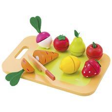 82320 - Tagliere Frutta E Verdura In Legno