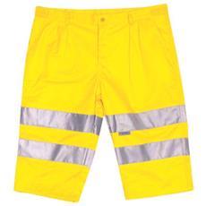 Pantalone Corto Ad Alta Visibilità In Cotone E Poliestere Colore Giallo Taglia S