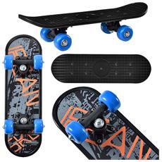 Skateboard Mini (44 X 13 X 10 Cm) (abec 7 - Cuscinetti A Sfera) (3 Motivi) Tavola Completa / Tavola Vintage / (motivo C - Coolfont)