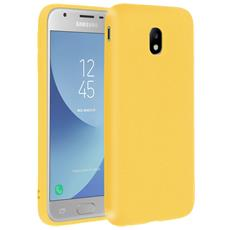 Cover Galaxy J3 2017 Soft Touch Silicone Gel Morbido - Gialla