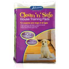 Veterinary Clean N Safe Tappetini Igienici Per Cani (confezione Da 50) (taglia Unica) (multicolore)