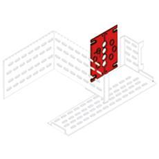 Kit di Segregazione Verticale Grigio Metallo 4B 80 x 60 x 40 cm GW49999