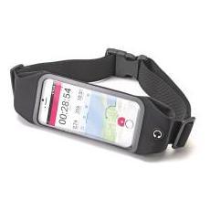 """Runbelt Cintura elastica per smartphone da 5.5"""" colore Nero"""
