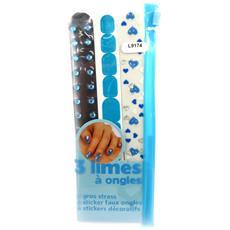 set di 3 lime per unghie 'scarlett' blu - [ l9174]