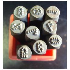 Punzoni 9 Numeri Micro Stress 4 Mm P012 / n04p
