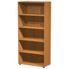Libreria armadio alto a giorno ECO in melaminico con 3 piani regolabili ed 1 fisso cm 90x44x200 h