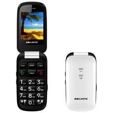 "Sileno 41 Bianco Display 2.4"" +Slot MicroSD SOS Radio FM Bluetooth Fotocamera"