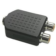 99327 RCA 2xRCA Nero cavo di interfaccia e adattatore