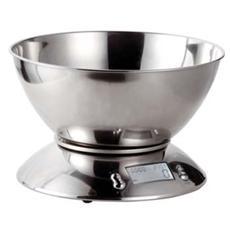 Bilancia Elettronica da Cucina in Acciaio Inox