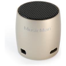 Speaker Audio Portatile MusicMan NANO BT-X7 Potenza Totale 2W Bluetooth Colore Champagne