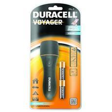 Flashlight DURACELL Voyager - 3 x LED - 15 Lumen - 2 x AA - Nero