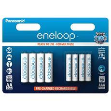 Panasonic Combipack 1x4 Mignon AA + 1x4 Micro AAA - Europa