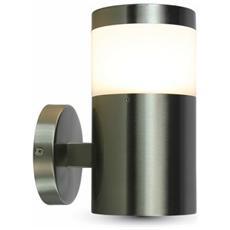 Lampada Da Muro Applique E27 Acciaio Inox Esterno Ip44 Vt-726 7032