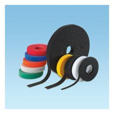 Hook & Loop Cable Tie, 15' roll, Black Nylon Nero fascetta